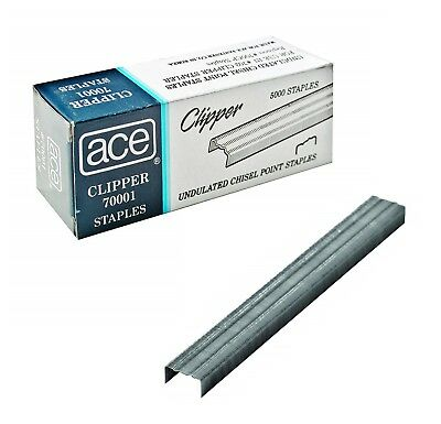 Ace Office Products 70001 Staples, Undulated, For 07020 Clipper Plier, 5000/BX