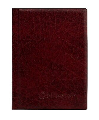 RED COIN ALBUM for 108 mix size coins 8 PAGES COINS BOOK FOLDER - COLLECTOR /R1