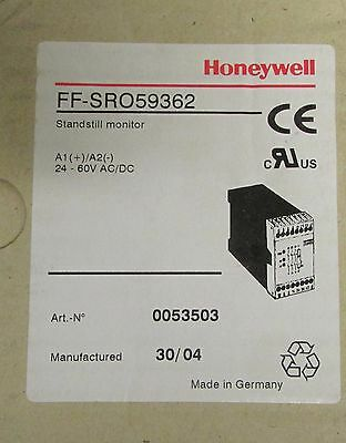 HONEYWELL FF SRO59362 Standstill Monitor Safety Relay 24-60 V AC DC
