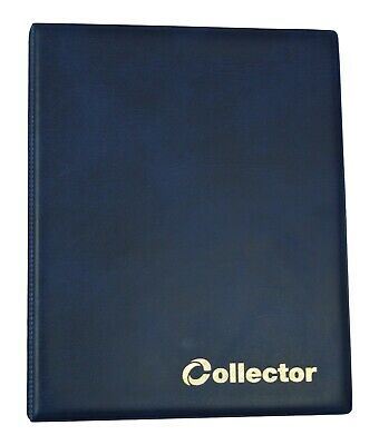 BLUE COLLECTOR HOLDER COIN ALBUM FOR 60 COINS IN COIN Self Adhesive Holders