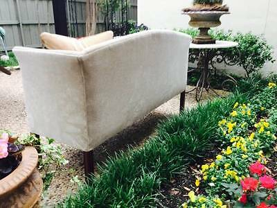 Mid century mohair / down filled sofa / window bench / settee