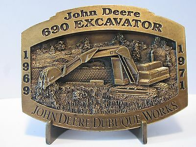 * John Deere Dubuque Works 690 Excavator Belt Buckle Limited Edition 1/2500  HTF