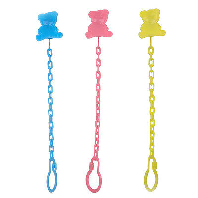 1pc Baby Infant Dummy Pacifier Soother Chain Clip Holder Toddler Toy