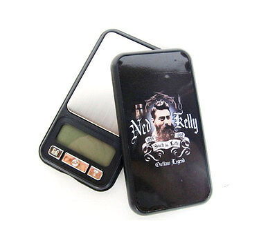 Ned Kelly Black  Digital Pocket Scale Jewellery Weight 0.01/100G Herb