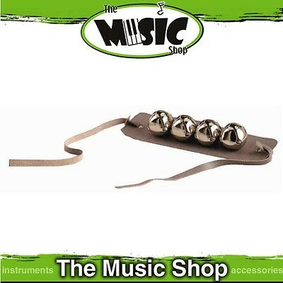 New CPK Sleigh Bells on Leather Wrist Band - 4 Bells - ED155