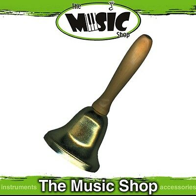 """New CPK Hear Ye! Town Crier Bell - 6 1/2"""" Long with Wooden Handle - ED389"""