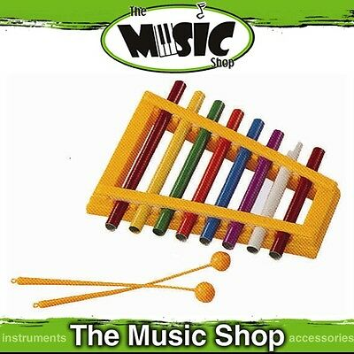 New Mitello 8 Note Colourful Pipe Xylophone with Mallets - ED580