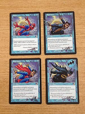 Mtg 4X Reprimere - Stifle - Signed & Artwork By  Orizio Scourge Very Beautiful