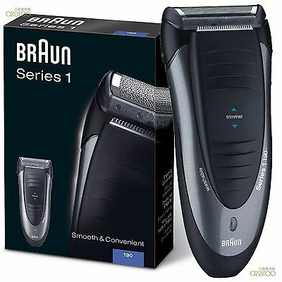 Braun Series 1 Mens Power Electric Rechargeable Foil Facial Hair Shaver New 190s