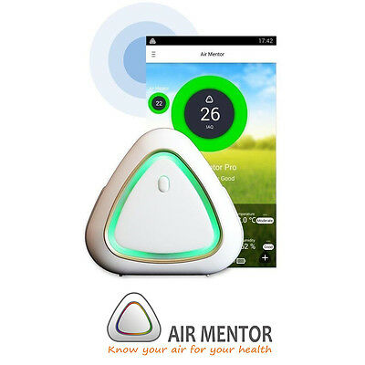 Air Mentor PRO A 6-in-1 Indoor Air Quality Monitor (8096-AP) - Free Ship