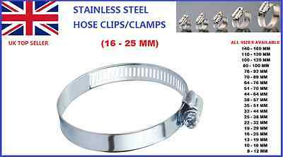 16-25Mm Car Stainless Steel Hose Clips/clamps Pipe Tube Air Gas Fuel Water