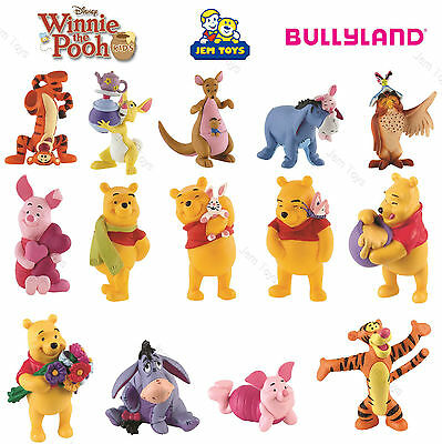 Disney Winnie the Pooh Figures Toy Cake Toppers Bullyland Tigger Piglet Eeyore