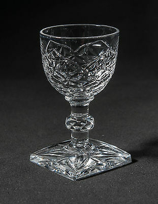 Antique Victorian/Edwardian Anglo-Irish Cut Liqueur Glass with Square Foot