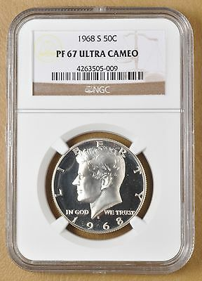 1968 S Kennedy Silver Half Dollar NGC PF 67 Ultra Cameo