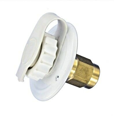 "White CITY WATER FILL inlet flange BRASS 1/2"" Female thread check valve RV FPT"