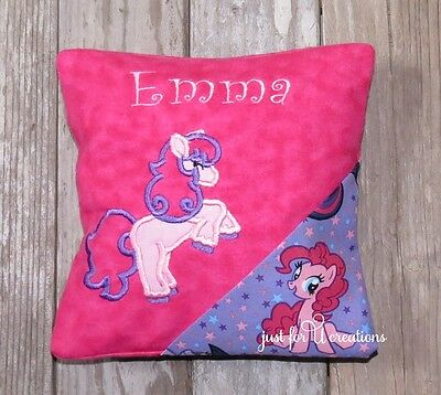 Girl's Personalized Embroidered Pony Design Tooth Fairy Pillow Horse