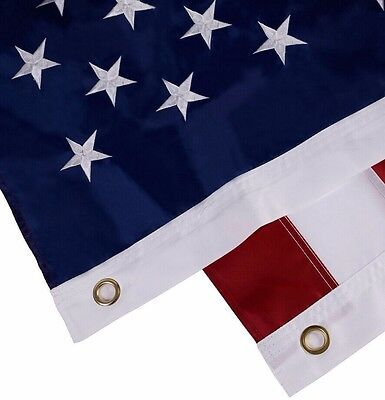 3'x5' FT US USA U.S. American Flag Sewn Stripes Embroidered Stars Brass Grommet