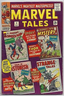 (1966) Marvel Tales #3 Reprints First Appearance Of The Lizard! Ant-Man! 4.5 Vg+