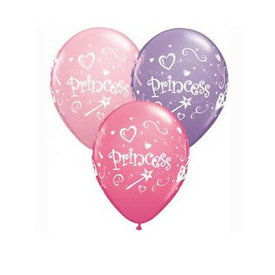 Party Supplies Birthday Girls Decorations Princess Assorted Balloons Pk 10