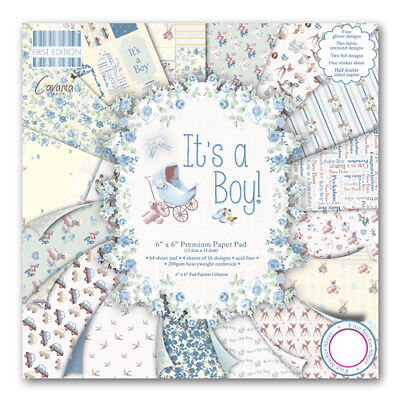 First Edition It's a Boy 6x6 Premium 64 Sheet Paper Pad FEPAD077