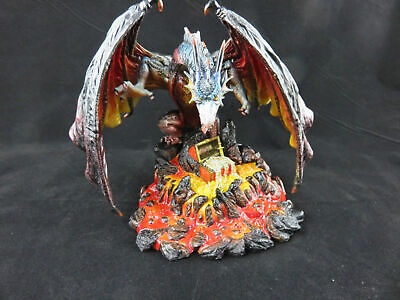 "Veronese Design ""Dragon with Treasure in Lava"" statue, Unique Item!"