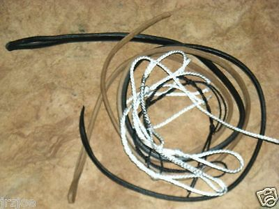 Stock Whip Bullwhip Spare Kit 1 Fall 6 Assorted Nylon String Crackers Poppers