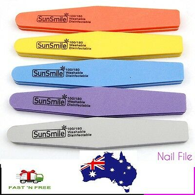 Double Side 100/180 High Quality Nail Sanding File Buffer Washable Manicure Tool