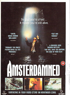 Amsterdammed Film Advert Magazine Clipping  Not A Copy