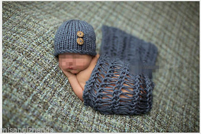 Newborn Baby Girl Boys Crochet Knit Costume Photo Photography Prop Outfit Hot