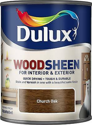 Dulux Woodsheen - Church Oak  750ml - Interior & Exterior - Woodstain