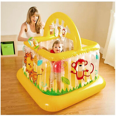 INTEX 48473 Soft Inflatable Baby Kids Jumping Play Gym Bouncer Trampoline