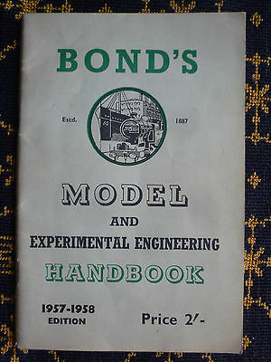 """bond's Model And Experimental Engineering Handbook""-1957-1958 Edition"