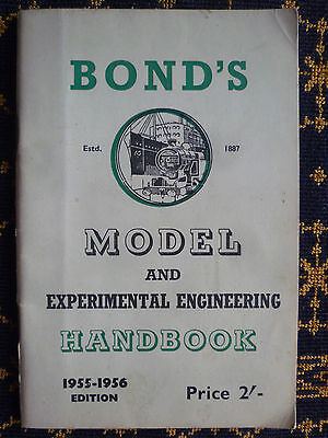 """bond's Model And Experimental Engineering Handbook""-1955-1956 Edition"