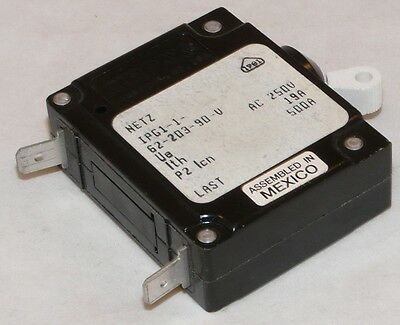 Used Airpax IPG1-1-62-203-90-V 1 Pole 20 Amp 250V Circuit Breaker
