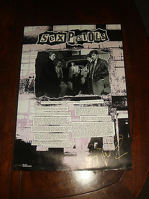 Rare SEX PISTOLS The Early Days GLEN MATLOCK Signed & #'d Limited Edition Print
