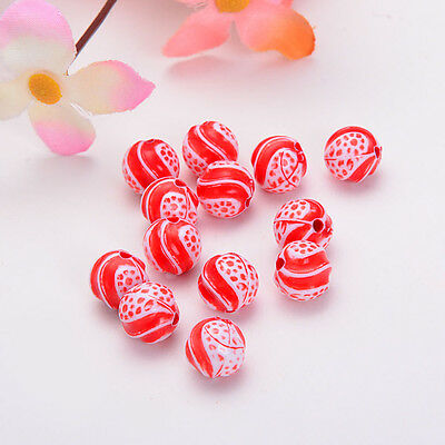 Jewellery Making 12mm 10pcs Acrylic concave pattern Loose Round Spacer Beads #18