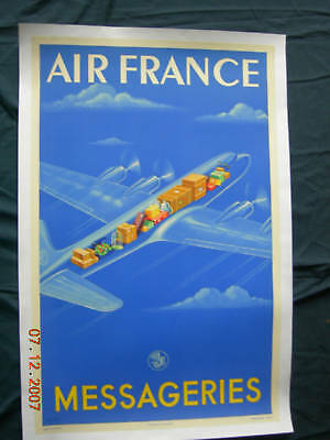"Vintage Poster Air France""messageries"" Atelier Perceval"