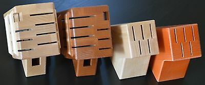 Block for 5 or 7 knives wooden brown or natural rack set holder storage kitchen