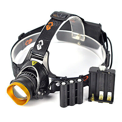 2500lm XML T6 LED Zoomable Headlamp Torch Flashlight Bicycle Light 3 Ways Power