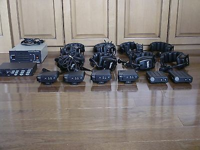 Telex Intercom System - 8 Headsets, 6 Beltpacks, Power Supplies