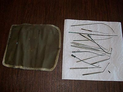 WW1 WW2 World War 1 2 - Used Surgical Field Kit - 16 Medical Tools Case