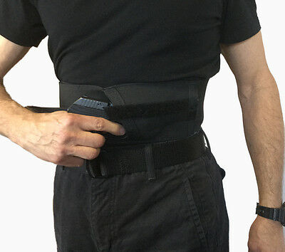 SideLoad Belly Band Gun Holster Concealed Pull Through