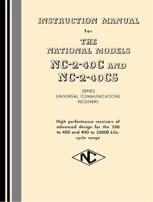National NC-2-40C and NC-2-40CS manual »R²