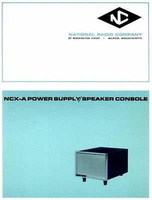 National NCX-A PS/Speaker console  manual »R²