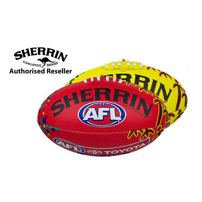 Sherrin Official AFL Synthetic Indigenous Football full size 5