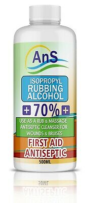 Isopropyl Rubbing Alcohol First Aid Antiseptic 500 ml Free Postage