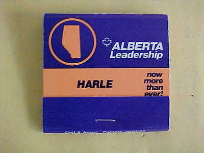 NEW COMPLETE GRAHAM HARLE INFAMOUS ALBERTA PC MLA  MATCH BOOK