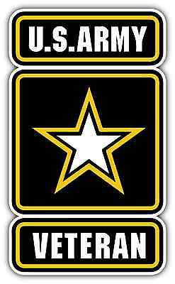 "US Army Veteran USA United States Car Bumper Vinyl Sticker Decal 3.5""X6"""