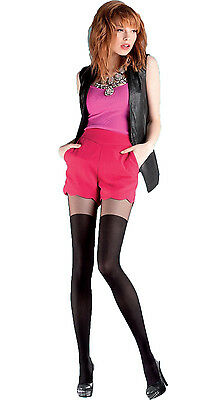 "Mock Suspender Tights  "" Over Knee"" with Imitating Over Knee Sock -Size S, M, L"