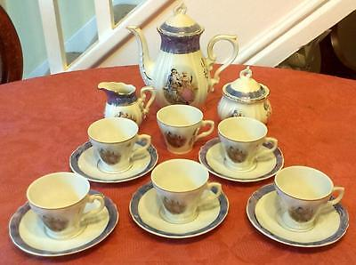 "Japanese ""Chinese Decoration"" Part Coffee Set (15 Pieces) In Good Condition"